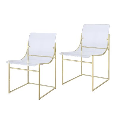 Dunlap Dining Side Chair Finish: Gold