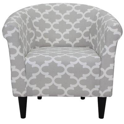 Cayeman Geometric Barrel Chair