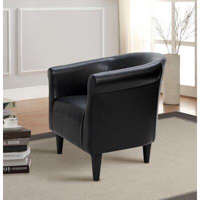 Cayeman Barrel Chair Upholstery: Black