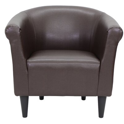 Cayeman Barrel Chair Upholstery: Brown