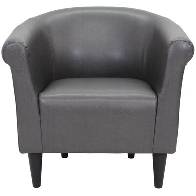 Cayeman Barrel Chair Upholstery: Dark Gray