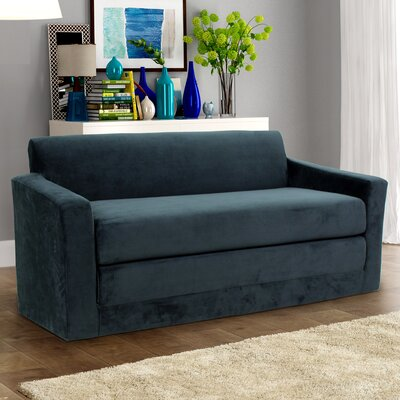 Pardue Sleeper Loveseat Upholstery: Black