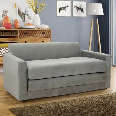 Pardue Sleeper Loveseat Upholstery: Gray