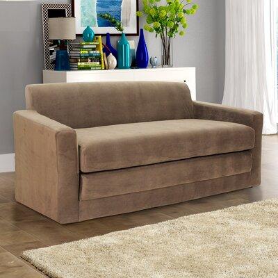 Pardue Sleeper Loveseat Upholstery: Mocha