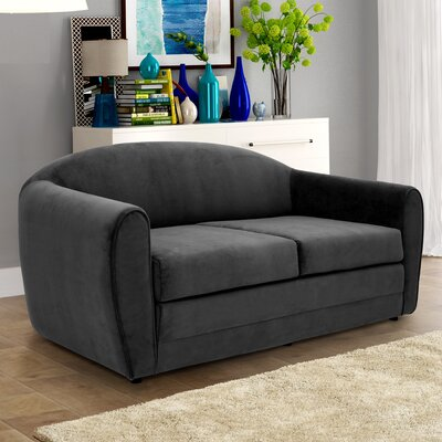 Paredes Sleeper Loveseat Upholstery: Black