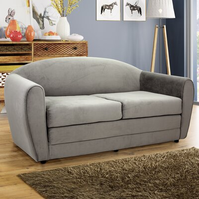 Paredes Sleeper Loveseat Upholstery: Gray