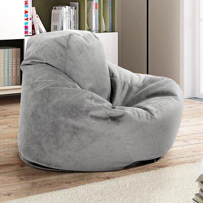 Soft Sided Bean Bag Lounger Upholstery: Gray