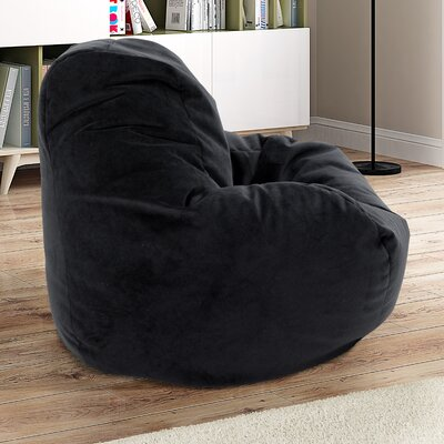 Soft Sided Bean Bag Lounger Upholstery: Black