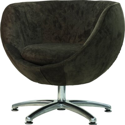 Overman Five Prong Base Globus Barrel Chair Upholstery: Brown