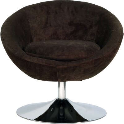 Overman Disc Base Astro Barrel Chair Upholstery: Brown