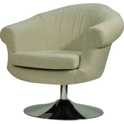 Overman Disc Base Barrel Chair Upholstery: Oatmeal