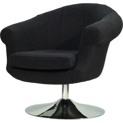Overman Disc Base Barrel Chair Upholstery: Black