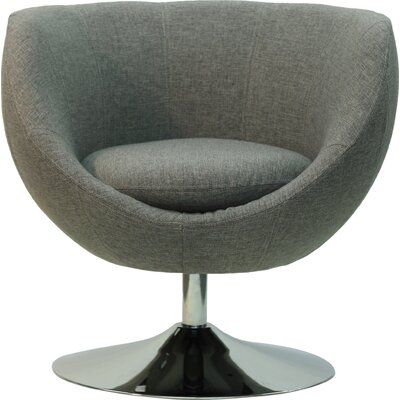 Overman Disc Base Globus Barrel Chair Upholstery: Light Gray