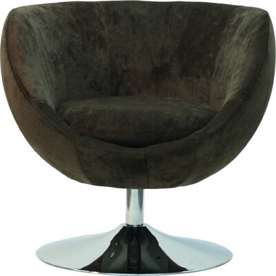 Overman Disc Base Globus Barrel Chair Color: Brown