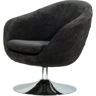 Overman Disc Base Comet Barrel Chair Upholstery: Dark Gray