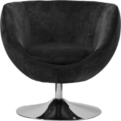 Overman Disc Base Globus Barrel Chair Color: Dark Gray