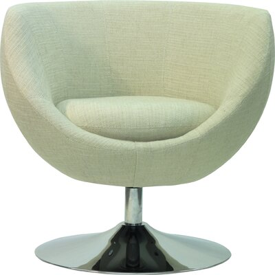 Overman Disc Base Globus Barrel Chair Color: Oatmeal
