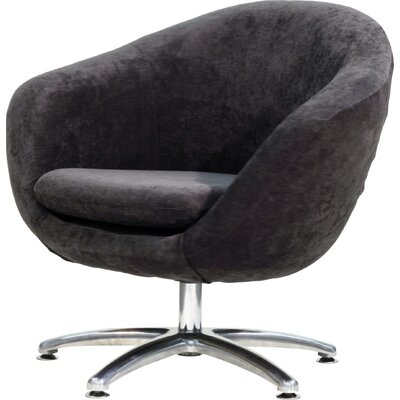 Overman Five Prong Base Comet Barrel Chair Color: Dark Gray