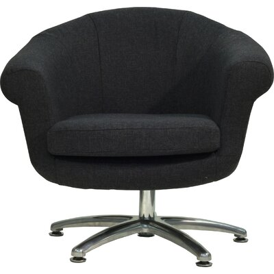 Overman Five Prong Twist Barrel Chair Upholstery: Black