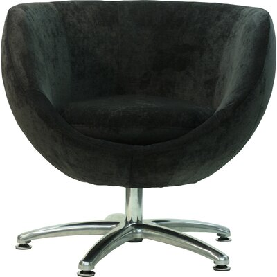 Overman Five Prong Base Globus Barrel Chair Upholstery: Dark Gray
