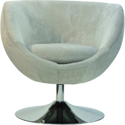 Overman Disc Base Globus Barrel Chair Upholstery: Light Tan