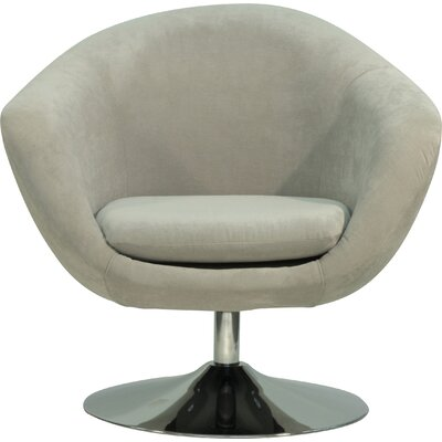 Overman Disc Base Comet Barrel Chair Upholstery: Light Tan