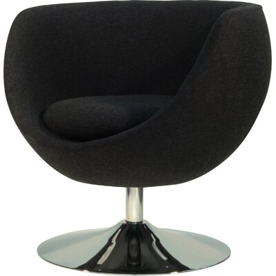Overman Disc Base Globus Barrel Chair Upholstery: Black