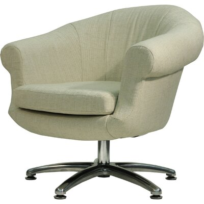 Overman Five Prong Twist Barrel Chair Upholstery: Oatmeal