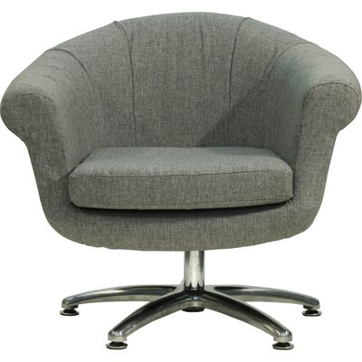 Overman Five Prong Twist Barrel Chair Upholstery: Light Gray