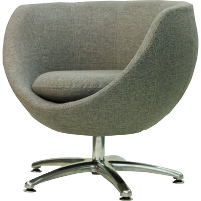 Overman Five Prong Base Globus Barrel Chair Upholstery: Light Gray