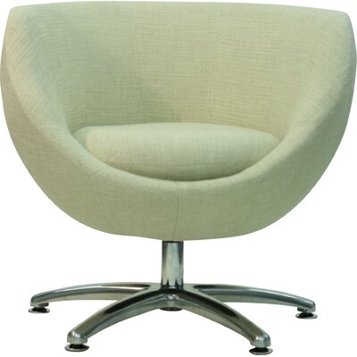 Overman Five Prong Base Globus Barrel Chair Color: Oatmeal