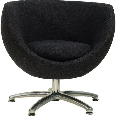 Overman Five Prong Base Globus Barrel Chair Upholstery: Black