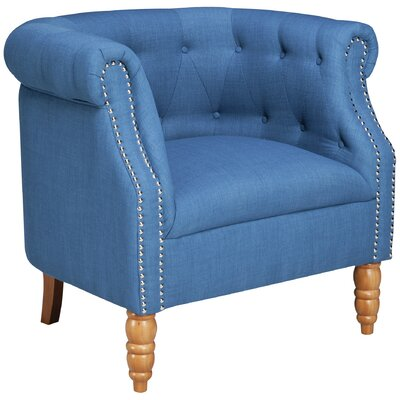 Blairview Tub Armchair Upholstery: Blue