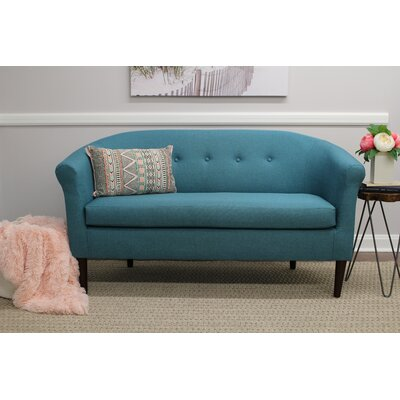 Reichenbach Settee Upholstery: Caribbean Blue