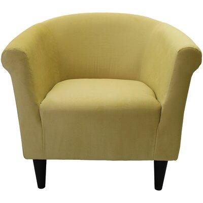 Mthimunye Barrel Chair Upholstery: Yellow