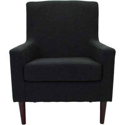 Draco Armchair Upholstery: Black