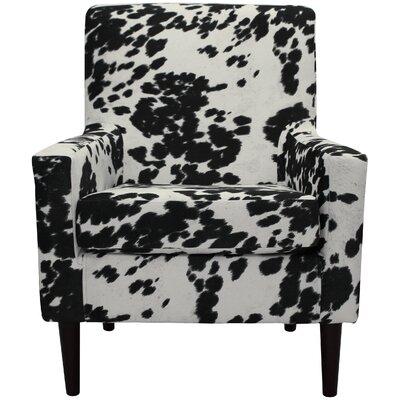 Brevard Armchair Upholstery: Cowhide Black
