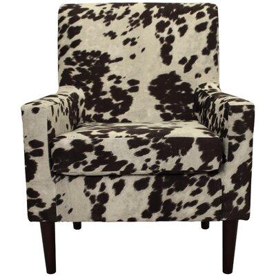 Brevard Armchair Upholstery: Cowhide Brown