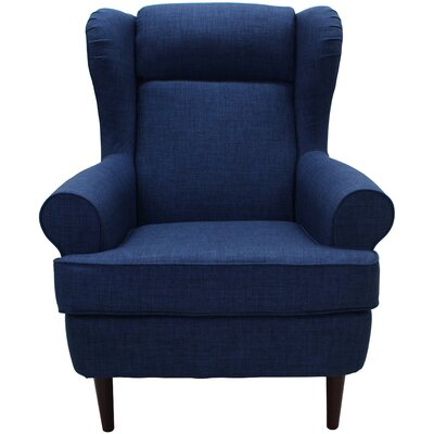Fraserburgh Wingback Chair Upholstery: Blue