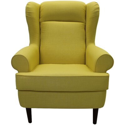 Fraserburgh Wingback Chair Upholstery: Yellow