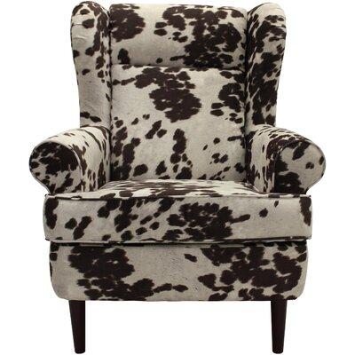 Wise Wingback Chair Upholstery: Cowhide Brown