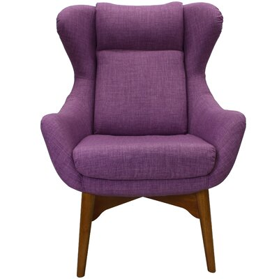 Jeanette Lounge Chair Upholstery: Purple