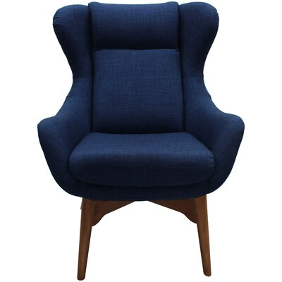 Jeanette Lounge Chair Upholstery: Indigo Blue