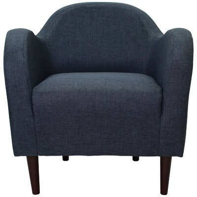 Reider Mid Century Armchair Upholstery: Navy