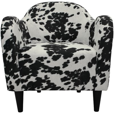 Caldwell Mid Century Armchair Upholstery: Cowhide Black