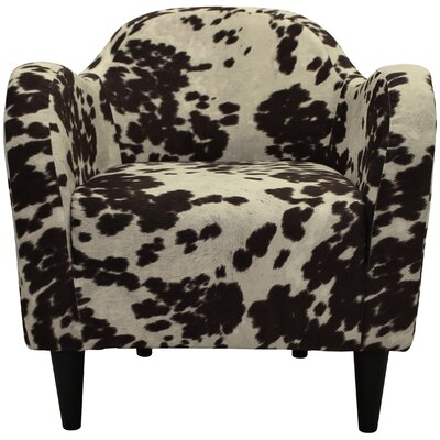 Caldwell Mid Century Armchair Upholstery: Cowhide Brown