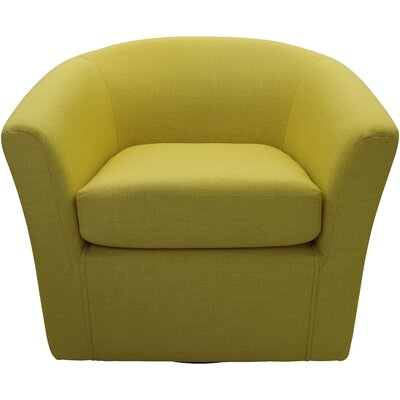 Burciaga Swivel Barrel Chair Upholstery: Butter Yellow