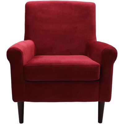 Ponce Upholstery Armchair Upholstery: Red