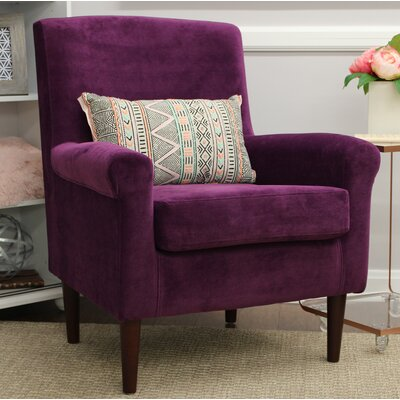 Ponce Upholstery Armchair Upholstery: Purple
