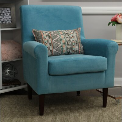 Ponce Upholstery Armchair Upholstery: Teal Blue